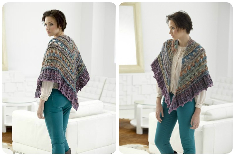 Meladora\'s Creations – Crocodile Stitch Shawl – Free Crochet Pattern