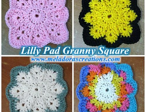 Lilly Pad Granny Square – Free Crochet Pattern