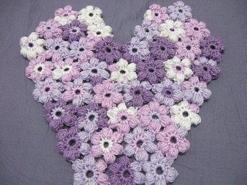 Puff Flower Heart 2