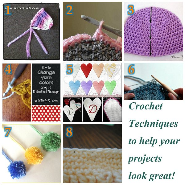 Crochet Techniques to help NUMBERed 600
