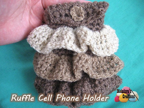 Ruffle Cellphone Holder - Free Crochet Pattern