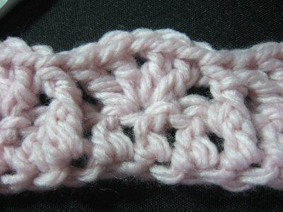 V stitch Scarf 1