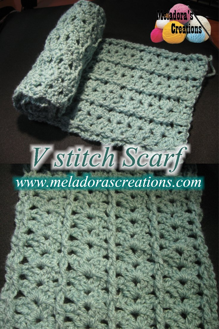 V Stitch Scarf – Free Crochet Pattern