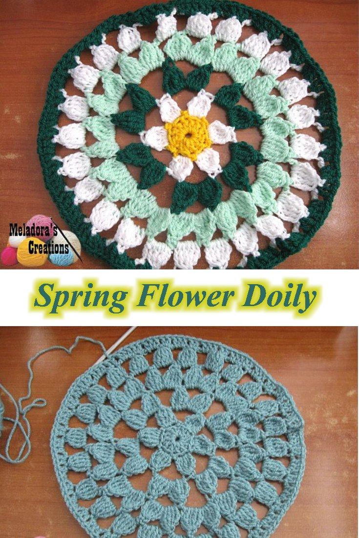 Meladora\'s Creations – Spring Flower Doily – Free Crochet Pattern