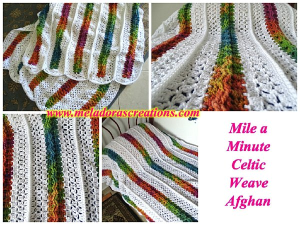 Mile a Minute Celtic Weave Afghan Combined 600 WM