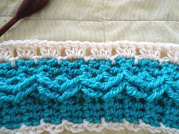 Mile a Minute Celtic Weave Afghan strip 6