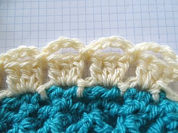 Mile a Minute Celtic Weave Afghan strip 8