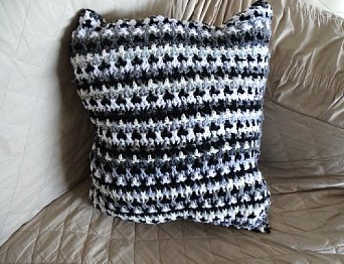 Scrap Yarn Crochet Pillow – Free Crochet Pattern