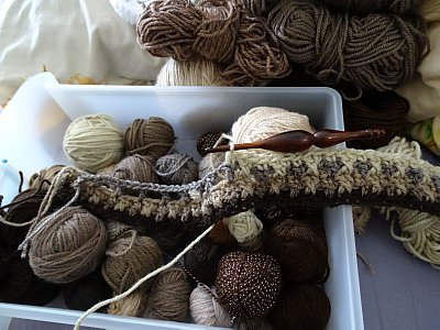 Scrap yarn drawers