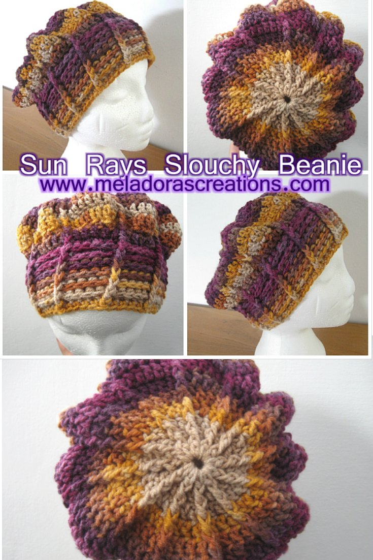 Sun Rays Slouchy Beanie – Free Crochet Pattern