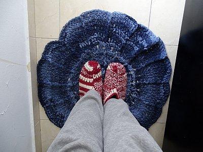 Round rug size