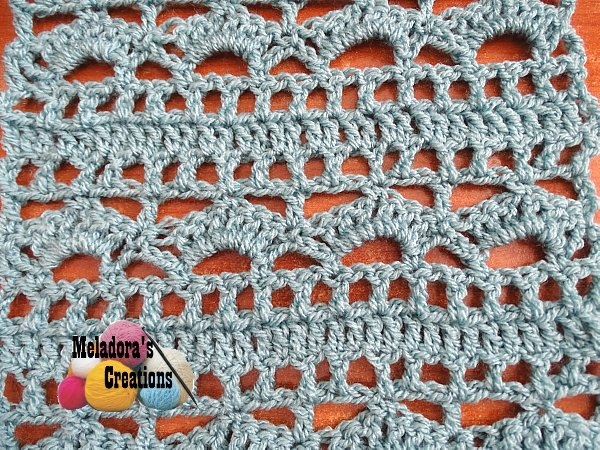Meladoras Creations Shells And Borders Free Crochet Pattern