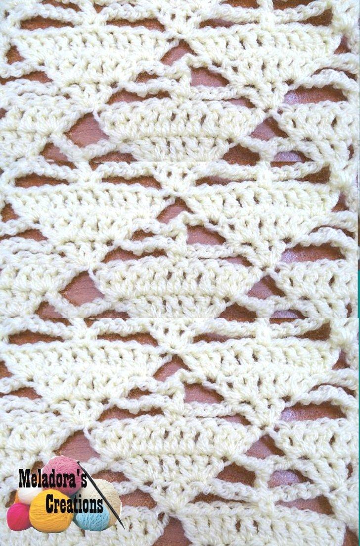 Triangle Lacy Stitch - Free Crochet Pattern
