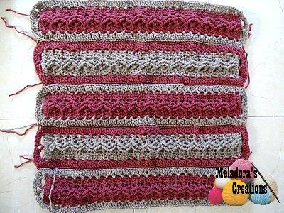 Celtic Weave Strips Hobo Bag 1