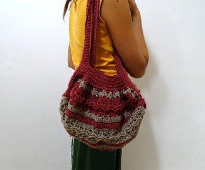 Celtic Weave Strips Hobo Bag 29