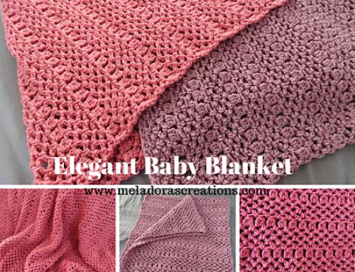 Elegant Baby Blanket – Free Crochet Pattern