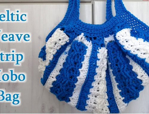 Celtic Weave Strip Hobo Bag – Free Crochet Pattern