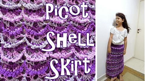 Long Crochet Skirt Pattern - Picot Shell Skirt – Free Crochet Pattern