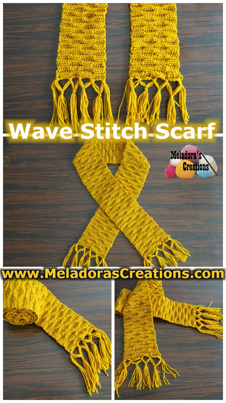 Crochet Scarf Pattern - Wave Stitch Scarf – Free Crochet Pattern