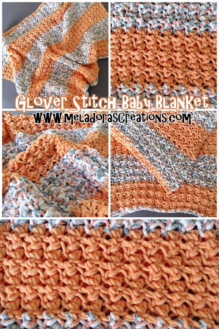 Meladora\'s Creations – Glover Stitch Baby Blanket – Free Crochet Pattern