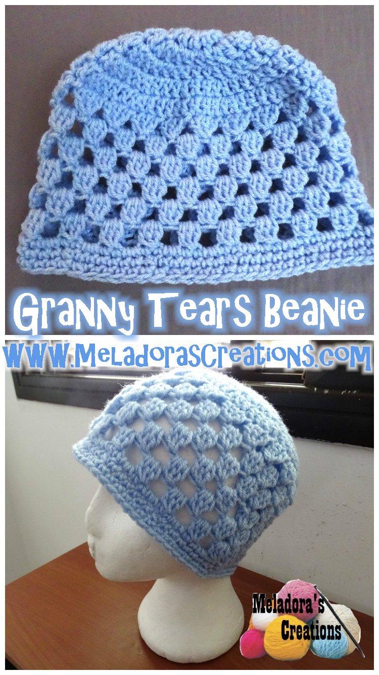 Granny Beanie Tutorial and Free Crochet Pattern