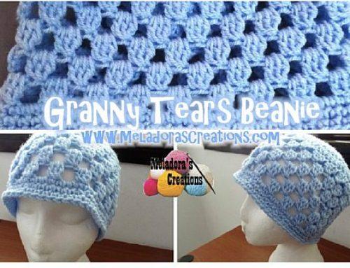 Granny Tears Beanie – Free Crochet Pattern