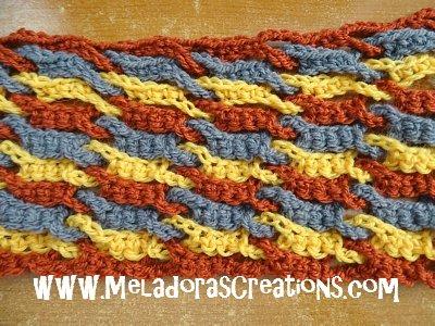 Single Weave and Link Stitch 14