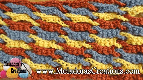 Single Weave and Link Stitch – Free Crochet Pattern