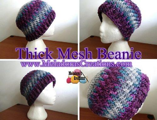 Thick Mesh Beanie – Free Crochet Pattern