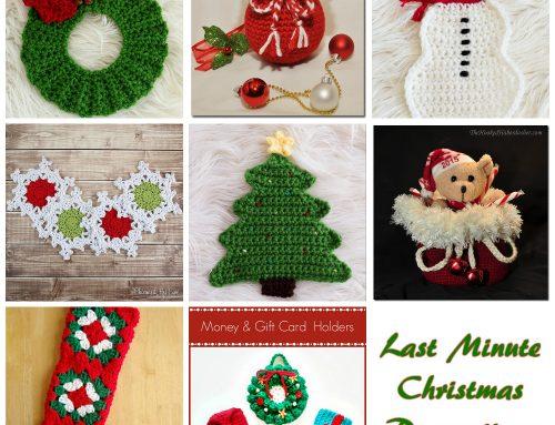 Last Minute Christmas Decoration Ideas – Crochet Round Up!