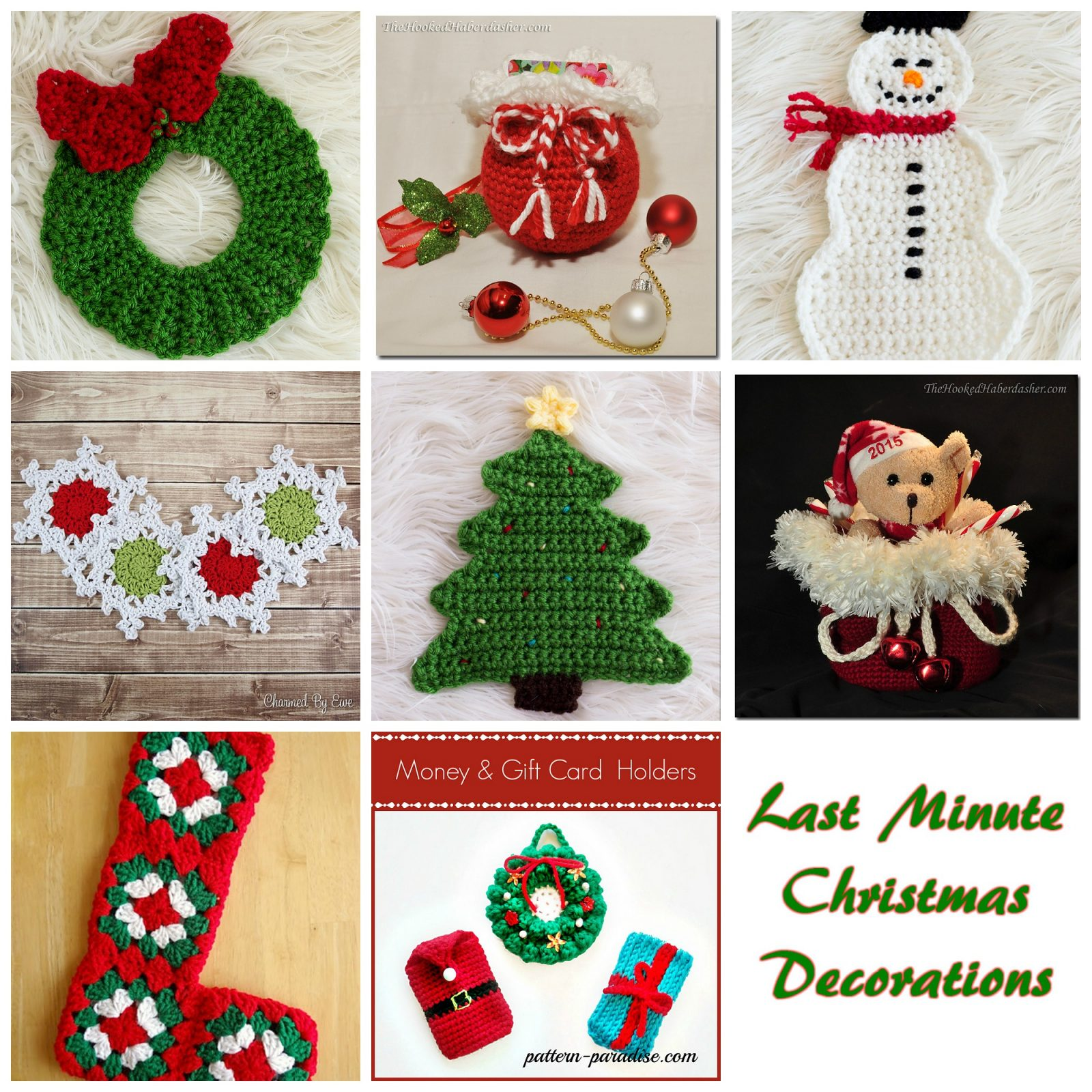 Last Minute Christmas Decoration Ideas - Crochet Round Up ...