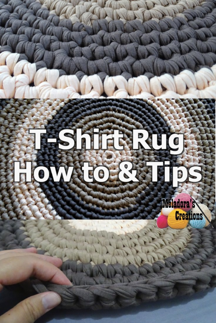 T – Shirt Yarn Round Rug – How to crochet a rug - Free Crochet Pattern