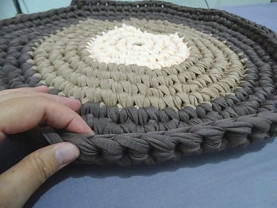 T – Shirt Yarn Round Rug – How to crochet a rug