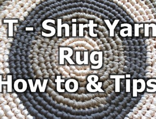 T – Shirt Yarn Round Rug – How to crochet a rug – Free Crochet Pattern