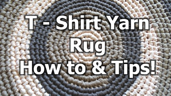 T Shirt Yarn Round Rug How To Crochet A Rug Free Crochet
