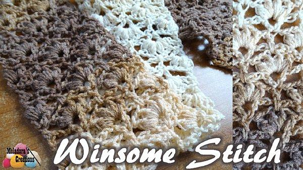 Winsome Lacy Crochet Stitch - Free Crochet Pattern