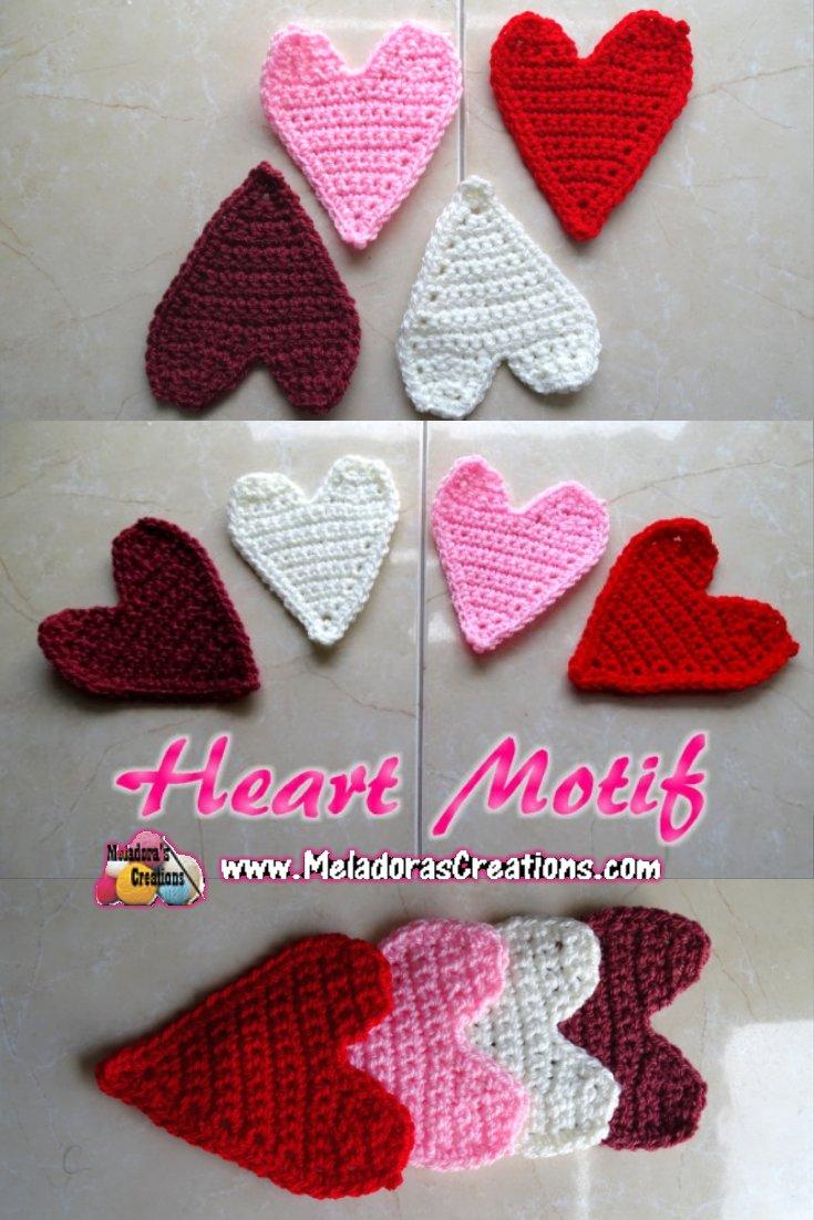 Crochet Heart Motif Applique – Free Crochet Pattern