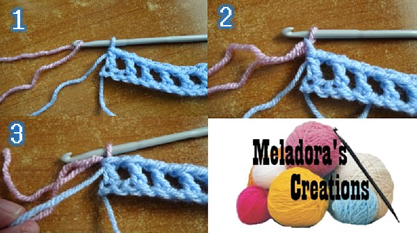 Dimensions Stitch Changing colors in crochet