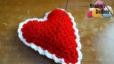 Heart Pin cusion or decoration 9