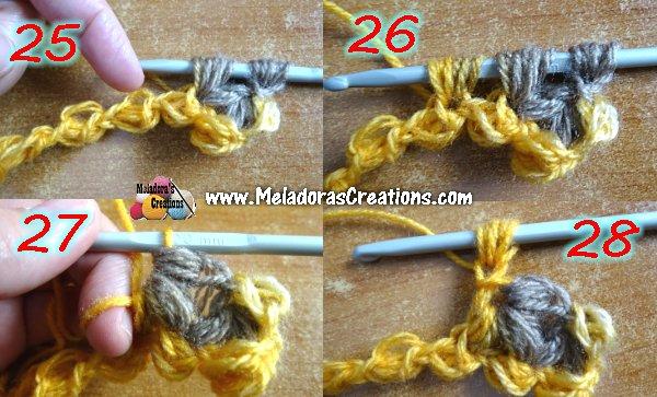 Crochet Jasmine Stitch : Jasmine Stitch 8