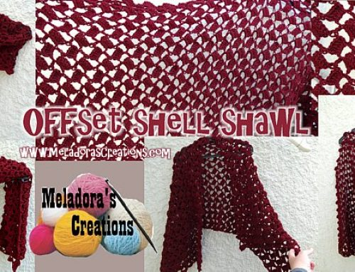 Offset Shell Shawl – Free Crochet Pattern