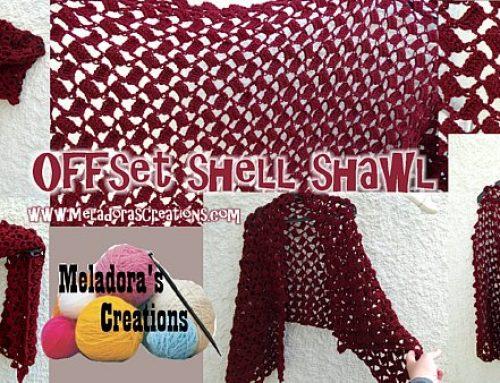 Offset Shell Shawl – Free Crochet Pattern