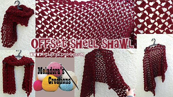 Offset Shell Shawl - Free Crochet Pattern