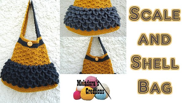 Scale And Shell Bag Free Crochet Pattern Meladoras Creations