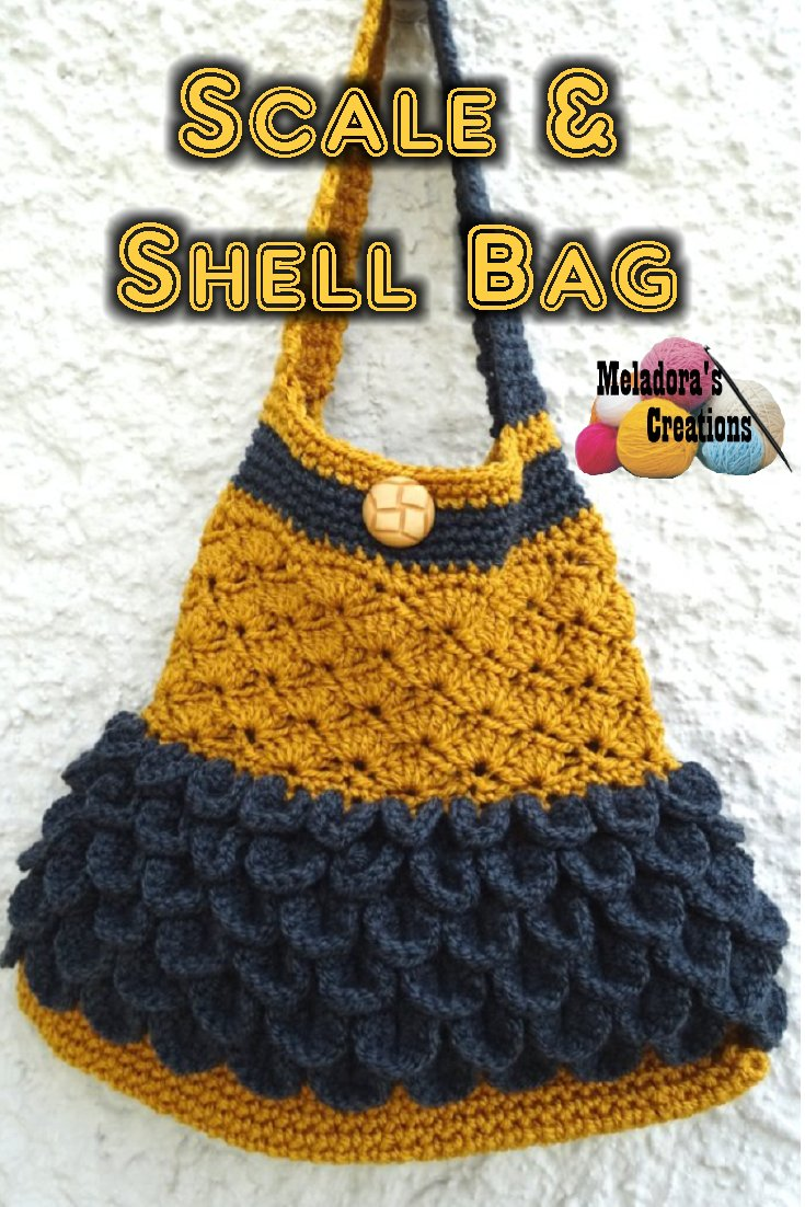 Scale and Shell Bag – Free Crochet Pattern - Meladora\'s Creations