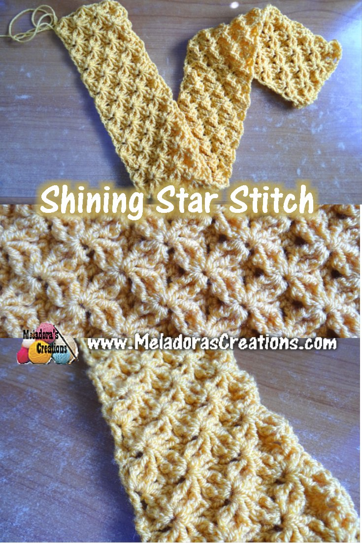 Shining Star Stitch Free Crochet Pattern Meladoras Creations
