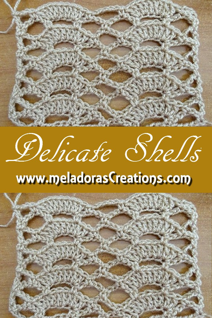 Meladora\'s Creations – Delicate Shells Stitch – Free Crochet Pattern