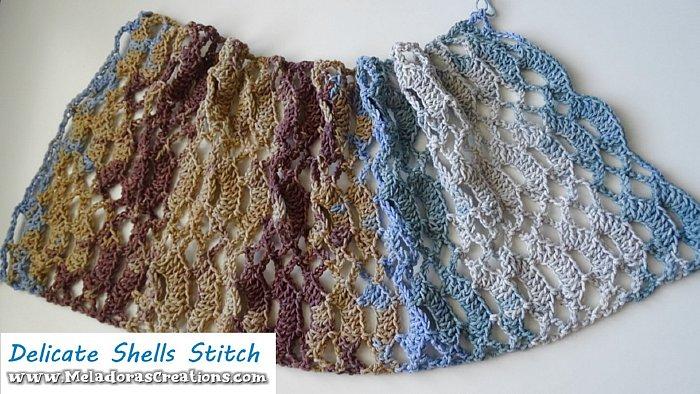 Lacy Crochet Shell Stitch - Delicate Shells Stitch – Free Crochet Pattern
