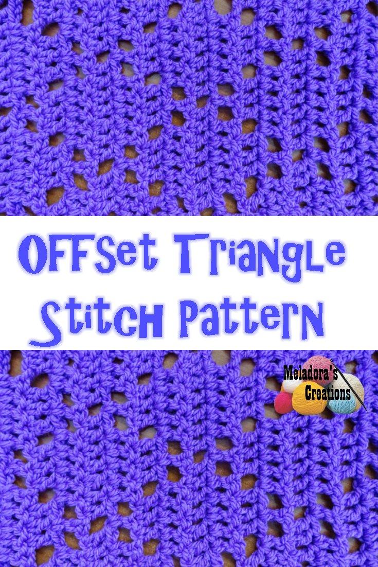 Offset Triangle Filet Crochet – Free Crochet Pattern