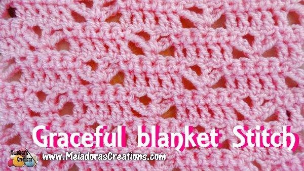 Crochet Quilt Stitch : Meladoras Creations Graceful Blanket Stitch - Free Crochet Pattern